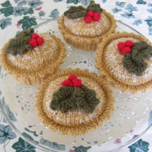 Ah mince pies. Did you know mince pies are called that because they used to have meat in them? How gross is that? Sometimes, in the case of English cuisine, modernisation is a good thing.  In pretty much everything else, it's a balls up.  Source: http://folksy.com/items/2631065-KNITTED-CHRISTMAS-MINCE-PIES